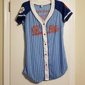 Other - Glittery All Star baseball shirt